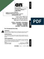 Poulan 33cc Woodshark Chainsaw Instruction Manual