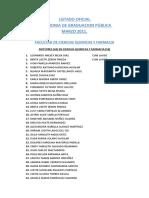 Listado Oficial Graduados Unah Marzo 2011