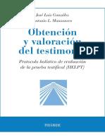 Obtención y Valoración Del Testimonio (Psicología) (Spanish Edition) by José Luis González Antonio Lucas Manzanero [González, José Luis] (Z-lib.org)