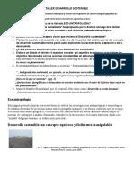 taller desarrollo sostenible y ecologia ANTROPOLOGIA