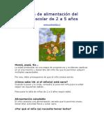 Guía de alimentación del preescolar de 2 a 5 años