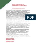 GUIÓN PARA DOMINGO DE RAMOS. 28 DE MARZO DE 2021