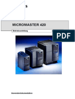 Bedienung Micromaster 420