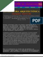 Jacques Derrida - La Metáfora Arquitectónica