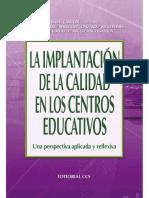 La implantación de la calidad en los centros educativos