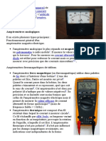 Un ampèremètre est un appareil de mesure de l1