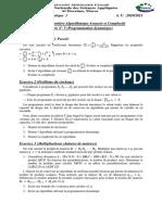 Algorithmique Avancée Et Complexité - Séance 5