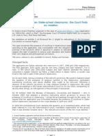 Η απόφαση του ΕΔΑΔ για τους Σταυρούς στις σχολικές αίθουσες της Ιταλίας_18_3_2011