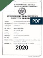 EXP. COA. N° 3477-2020_DRC  (19 págs.) falta 10 y 11. Tomado el 4 JUN 2021. Caso embargo BCP a Irene Isabel DÁVILA ARANCIBIA.
