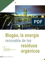 Biogas, La Energia Renovable de Los RRSS