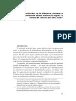 """Paixão, Marcelo (2016) """"Capítulo 2. Realidades de la diáspora presencia afrodescendiente en"""