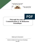 3eme Parasitologie 19-20 cours de communication et rédaction scientifique Bourouba