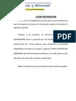 CURSO DE BIOENERGETICA CLASE 8 MODELO SUGERIDO DE ELIXIR REPARADOR