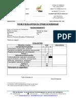 Fiche d'évaluation 2020-2021