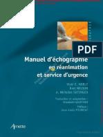 Manuel d'échographie en Réanimation