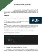 Django Approach with API