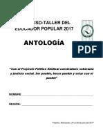 Antología. XIV Curso-Taller Estatal Del Educador Popular. 2017