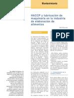 HACCP Y Lubricacion De Maquinas