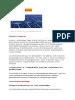 Document photovoltaique