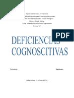 Deficiencias cognoscitivas unidad II