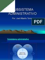 unidad 7 Subsistema administrativo
