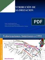 Presentación MBA - CONTRIBUCIÓN DE VALORIZACIÓN