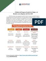 Ayuda Memoria - IPS Mujer y Hombre Regiones del Perú 2019