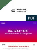 Referencias bibliográficas con ISO 690 2010