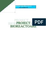 BIOTEHNOLOGIA DE OBŢINERE A  DROJDIEI DE PANIFICAŢIE (Proiect Bioreactoare)