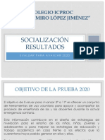 Resultados Evaluar Para Avanzar 2020-3