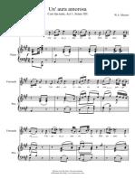 Mozart Cosi Fan Tutte Una Aura Amorosa