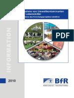 Aufnahme Von Umweltkontaminanten Ueber Lebensmittel
