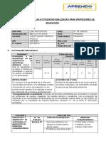 INFORME 1 MARZO - 4° C - APRENDO EN CASA