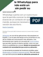 El truco de WhatsApp para saber dónde está un contacto sin pedir su ubicación