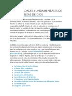 LAS 16 VERDADES FUNDAMENTALES DE LAS ASAMBLEAS DE DIOS