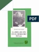 FRANZ VON LISZT - La Idea de Fin en El Derecho Penal