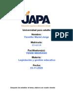 Tarea 4 de Legislacion