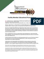 Facility Member Education - Master