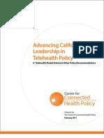 CA Telehealth Model Statute Report Feb 2011