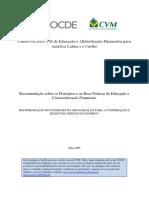 Recomendação sobre os princípios e as boa práticas de educação e conscientização financeira