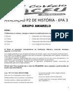 Avaliação p2 de História