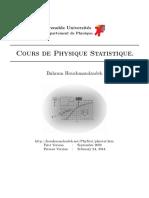 Cours de Physique Statistique
