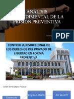 ANÁLISIS PROCEDIMENTAL DE LA PRISIÓN PREVENTIVA