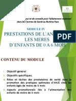 Module 4. PRESTATIONS DE L'ANJE POUR LES MERES D'ENFANTS DE MOINS DE 6 MOIS - Copie