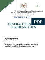 Module 8. Generalites Sur La Communication