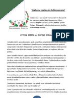 Lettera Aperta Al Popolo Italiano
