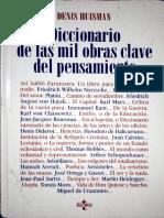 HUISMAN, Denis - Diccionario de Las Mil Obras Clave Del Pensamiento
