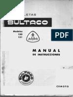 Bultaco Junior 74,125 '74 owner's manual (130.30-027).