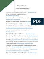 Referencias bibliográficas de la infografia