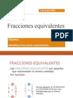 fracciones equivalentes, 1 de junio
